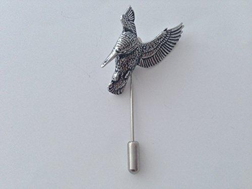 B22 Schwebender Eisvogel-Krawatte, feines englisches Zinn, auf Krawattennadel, für Hut, Schal, Kragen, Mantel