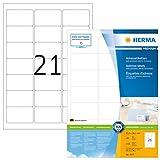 HERMA Etichette per Indirizzi, 63,5 x 38,1 mm, Etichette Adesive A4 per Stampante, 21 Etic...