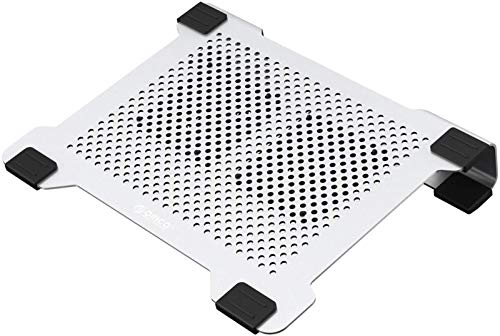 Laptop Cooling Pad Aluminum Laptop Stand with 2 USB Fan Prevent Over-Heating