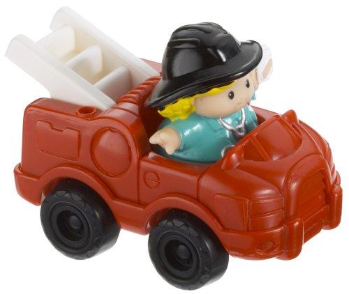 Fisher Price–C4312–Jouet Premier Age–Polizeifahrzeugen Little People–-Feuerwehrauto