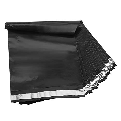 ATTA 10×13 Inch Poly Mailers 100Pcs Shipping Bags Waterproof and Tear-Proof Postal Bags,Envelopes Mailers with Self Adhesive(Black)