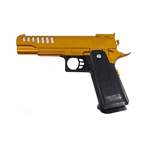 Rayline Softair Pistole Metall RV17 G (Manuell Federdruck), Nachbau im Maßstab 1:1, Länge: 22cm, Gewicht: 450g, Kaliber: 6mm, Farbe: Orange - (unter 0,5 Joule - ab 14 Jahre)