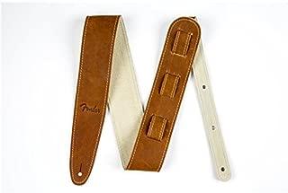 Fender Baseball Glove Leather Guitar Strap - Brown