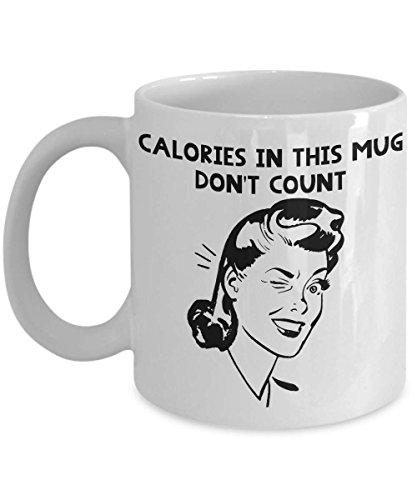 Calorieën Foodie Geschenken Calorieën in Deze Mok Niet Tellen Suiker Liefhebber Dieet Mok Gewichtsverlies Gewicht Watchers Calorieën Niet Tellen Cheat Dag Cup Winter Mok, Thee Cup 11 oz Koffie Mok