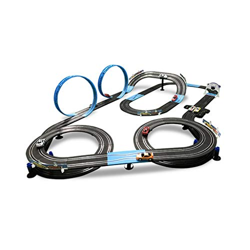 LINGLING-Pista Coche De Control Remoto MR Electric Manivela Roller Coaster Juguetes para...