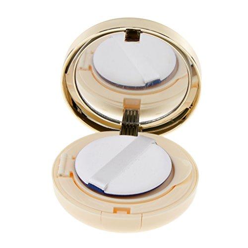 Leere Tragbare Luftkissen Pulver Puff Box Liquid Foundation BB Creme Container, DIY Make-up Box mit Schwamm Puderquaste und Innen Spiegel - B Stil