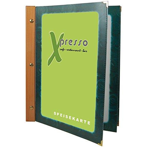 Decor Service Menus, PVC/Bois, Vert, 32,5 x 0,3 cm
