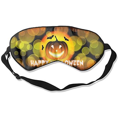 Preisvergleich Produktbild Schlaf Augenmaske Halloween Laterne Kürbis Weiche Augenbinde Verstellbarer Kopfgurt Eyeshade Travel Eyepatch