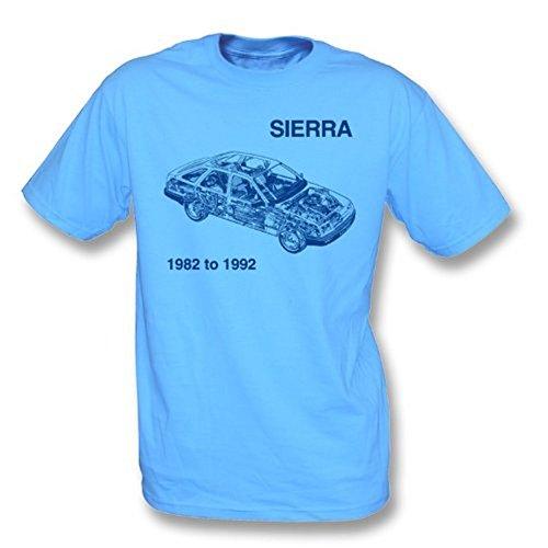 TshirtGrill Camiseta Ford Sierra - Slimfit para niñas, Color Azul Cielo