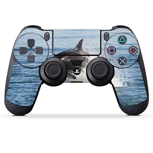 DeinDesign Skin kompatibel mit Sony Playstation 4 PS4 Controller Folie Sticker Orca Wal Meer