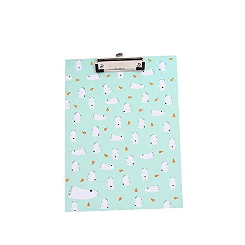 Fablcrew A4 Schreibblock Folder Board Testen Sie die Papierschiene 22 * 31cm (Blau)
