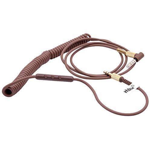 vhbw Câble Audio AUX Compatible avec Marshall Kilburn 3, Major 3, Major 4 Casque - avec Prise Jack 3,5 mm, 150-230 cm, Or/Marron