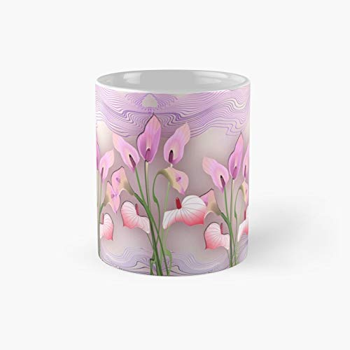 Flower Flow 208 Classic Mug Flowers, For Fathers Day, Mothers Best Gift Family And Your Friends, Yourself, Funny Coffee Mugs 11 Oz