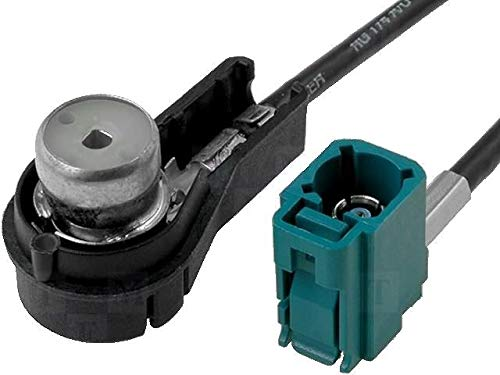 ADNAuto 81809 Adaptateur Antenne Fakra F/Iso F Coude-0.25M- Mfd2/Rns2