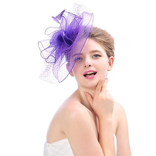 Hoofddeksels Vrouwen Elegante Bloem Hoed Eenvoudig Haar Bruid Glamoureuze Clip Accessoires Doorkijkkam Houd Cocktail Royal Ascot Topper