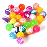 FEPITO 30 Pcs Bouncy Balls Colourful Rubber Balls Bouncy Ball Party Bag Fillers