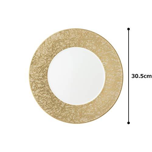 NARUMI(ナルミ) プレート 皿 和紙(金) ゴールド 30cm 51357-5727