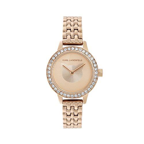KARL LAGERFELD Women\'s RG Petite Pave Choupette Bracelet Damenuhr, 26mm, Quarz - 5552739