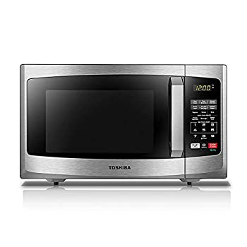 Toshiba EM925A5A-SS Microwave Oven with Sound On/Off ECO Mode and LED Lighting 0.9 Cu Ft/900W Stainless Steel