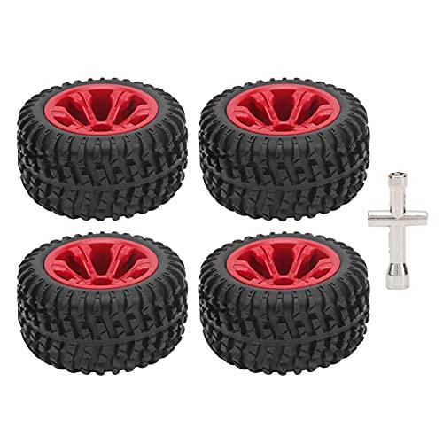 WYDM Neumático de Coche RC, 4 Piezas de neumáticos de Goma Profesionales Accesorios de Piezas de Mejora de Coche RC Aptos para 12428