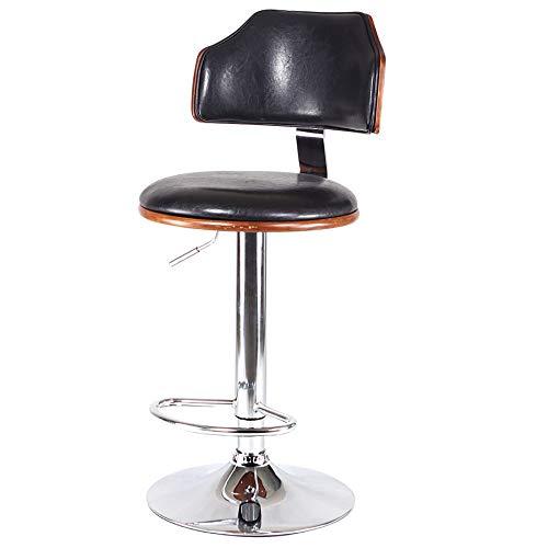 XXBR Sedia da Barbiere Antica,Sedia in Legno Regolabile in Altezza Cucina di Design Vintage Anticato Bar Stile Industriale Salone di Bellezza Sgabello da Trucco(Marrone)