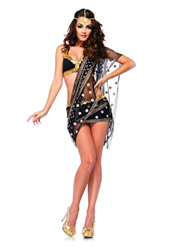 Leg Avenue Costume Bollywood Darling (L, Noir/Or)