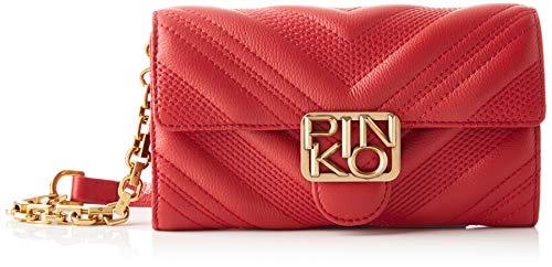 Pinko 1P21UY_Y6JJ, Logo Wallet CHEVRONNE C VITELL Donna, R72_Rosso Rubino, U