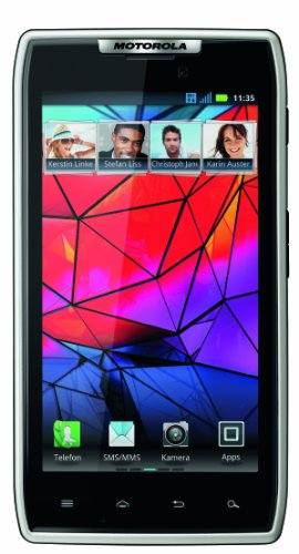 Motorola RAZR Smartphone (10,9 cm (4,3 Zoll) AMOLED Display, 8 Megapixel Kamera, Dual Core Prozessor, Android OS, Micro-SIM only) weiß