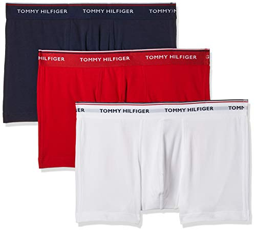 Tommy Hilfiger Herren 3p Trunk Sport Shorts, Weiß (White/Tango Red/Peacoat 611), L / 52 (3er Pack)