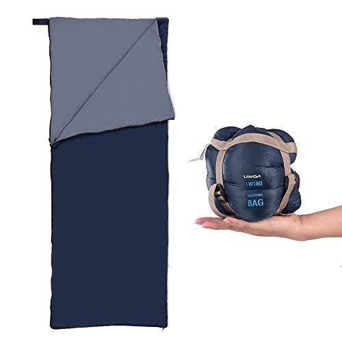 Lixada Sac de couchage Camping Voyage Randonnée Multifonction ultra léger Enveloppe extérieure Sac de couchage 650g
