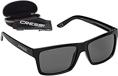 Cressi Bahia Flotantes Sunglasses Gafas De Sol Deportivo, Unisex adulto, Negro/Lentes espejados