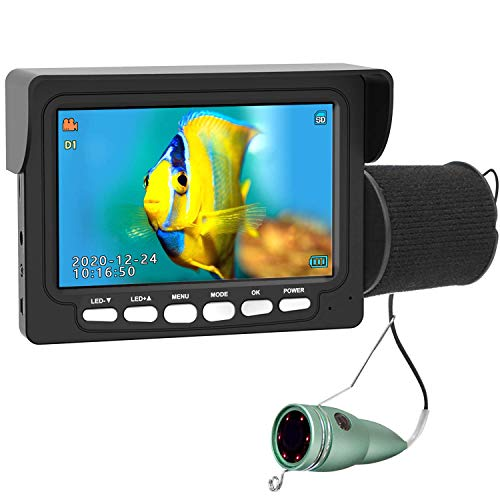 Underwater Ice Fishing Camera, ANYSUN 4.3 Inch IPS Monitor IP68...