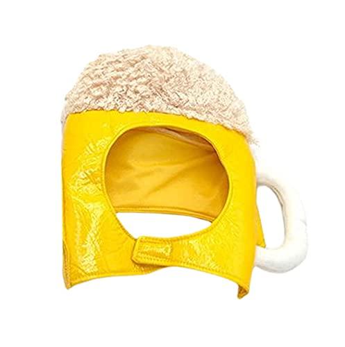 S-L Disfraz De Mascota Perro Gato Divertido Sombrero De Cerveza, Sombrero Suave Ajustable Sombrero De Disfraz De Perro Y Gato, Sombrero De Mascota Sombrero De Disfraz De Cerveza Piratas De Halloween