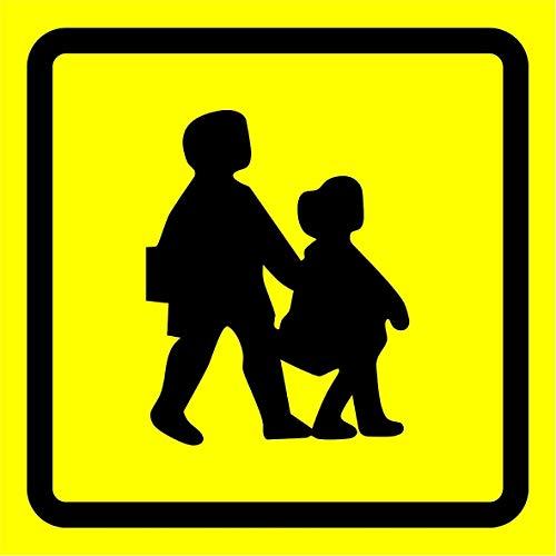 Scuola bus simbolo di sicurezza – Adesivo autoadesivo 200 mm x 200 mm