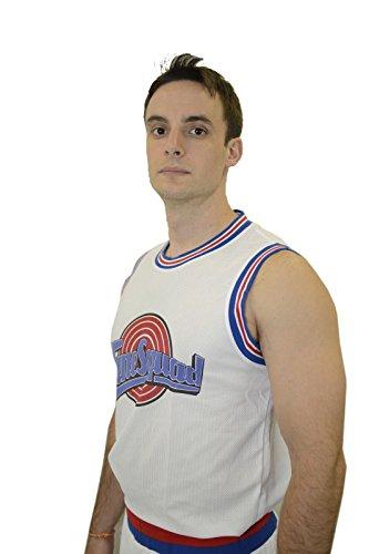 Space JAM Basketball Jersey Shorts Set 23 Tune Squad Shirt Jordan (M) White