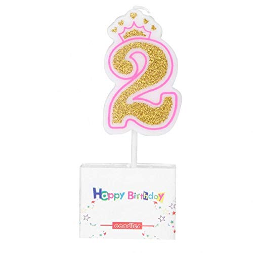 Candela natalizia profumata New Girls Kids Birthday Candle Party Crown Smoke Free Cake Candles Numbers Age-C
