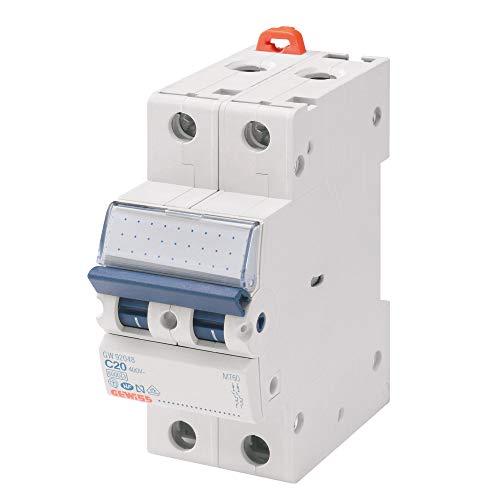 Gewiss - Interruttore Magnetotermico - Mt45 - 1P+N Curva C 25A - 2 Moduli