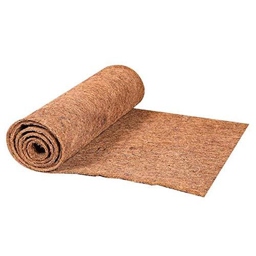 Ohstgp Felpudo antideslizante de coco natural para interiores y exteriores, 0,5 m de ancho, rollo de forro de coco para jardín, antideslizante, mantener caliente la decoración de la boda