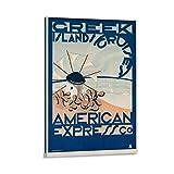 Greek Islands Cruises American Express Co 1950s - Lienzo decorativo para pared (40 x 60 cm)