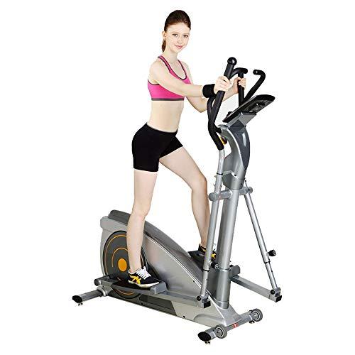 CHENGREN Ellipsen Crosstrainer Ellipsentrainer-Haushaltsmaschine, Herzfrequenz Zeit Kalorien Entfernung Geschwindigkeitsanzeige