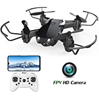 EACHINE E61HW, Mini Drone para Niños con Cámara, RC Quadcopter 2.4G 6 Ejes Control de Altitud, Modo sin Cabeza, Control Remoto, Drone Trayectoría, FPV en Tiempo Real
