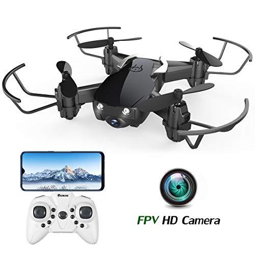 EACHINE E61HW Mini Drone con Cámara, RC Quadcopter 2.4G 6 Ejes Control de Altitud, Modo sin Cabeza, Control Remoto, Drone Trayectoría, FPV en Tiempo Real