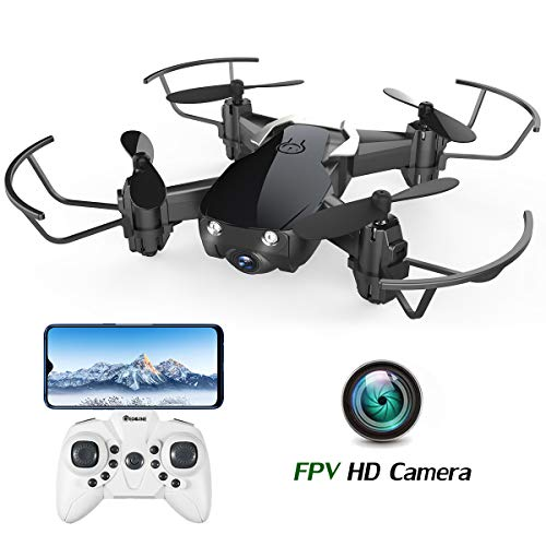 EACHINE E61HW Mini Drone with Camera Indoor Outdoor for Kids Adults WiFi...