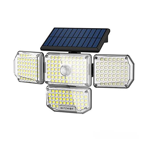 Lampade da parete 4 teste luce del sensore solare GUIDATO Lampada solare illuminazione esterna con uscita a 4 lati IP65. Luce impermeabile