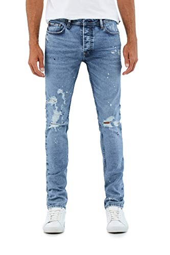 Salsa Jeans Lima Tappered Premium Blue e Strappi