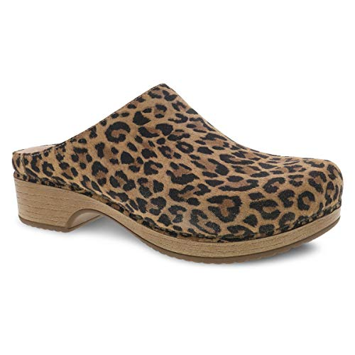 Dansko Women's Brenda Leopard Suede Mule 11.5-12 M US