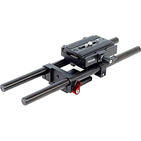 PROAIM 15mm Rail Rod Support System Base Plate Camera Mount for Follow Focus Matte Box Smaller Size (RS-1)