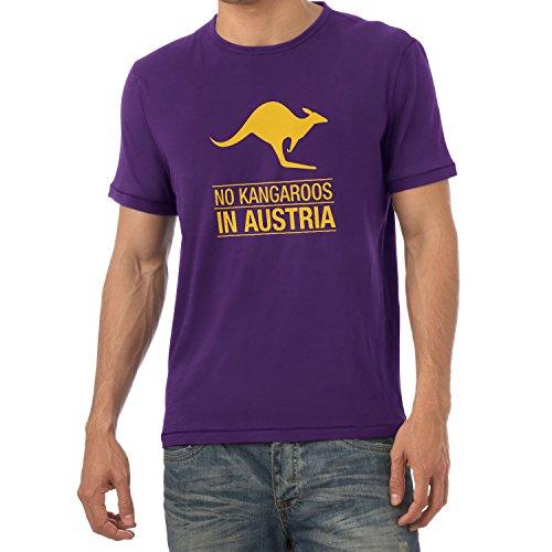 Texlab Herren No Kangaroos in Austria T-Shirt, Violett, XXL