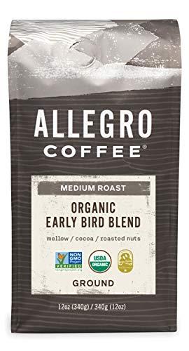 Allegro Coffee Organic Early Bird Blend Ground Coffee, 12 oz