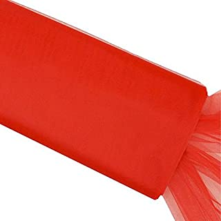 BalsaCircle 54-Inch x 120 feet Red Large Net Tulle Fabric by The Bolt - Wedding Party Decorations Sewing DIY Crafts Costumes